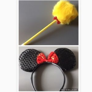 ❗️Must Bundle❗️Minnie Mouse Head Band & Pen
